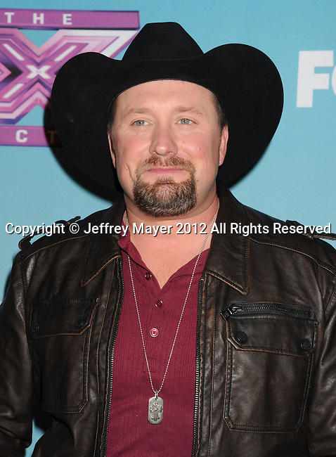 LOS ANGELES, CA - DECEMBER 20: Tate Stevens attends the FOX's 'The X Factor' Season Finale - Night 2 at CBS Televison City on December 20, 2012 in Los Angeles, California.