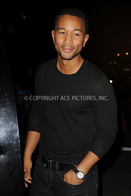WWW.ACEPIXS.COM . . . . . ....December 8 2009, New York City....Singer John Legend arriving at the launch of VEVO, a new music and video website, at Skylight Studio on December 8, 2009 in New York City.....Please byline: KRISTIN CALLAHAN - ACEPIXS.COM.. . . . . . ..Ace Pictures, Inc:  ..tel: (212) 243 8787 or (646) 769 0430..e-mail: info@acepixs.com..web: http://www.acepixs.com