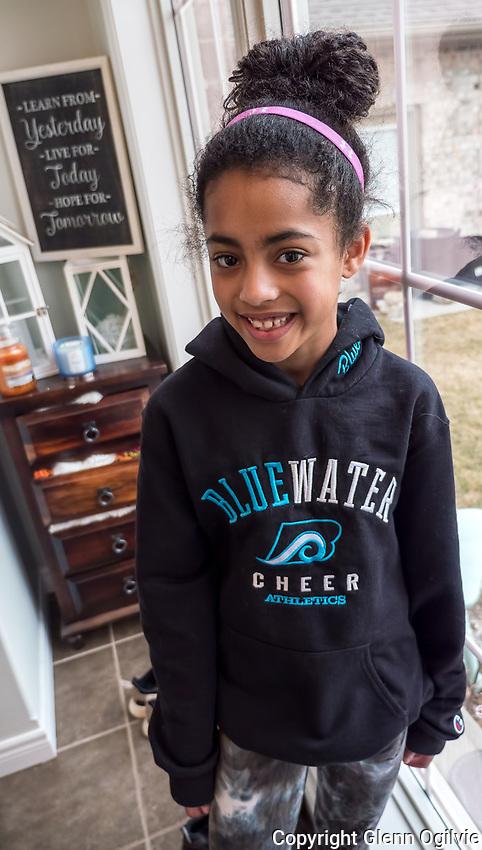 Sammy Kabat, 12, the daughter of Jaime and Bryan Kabat