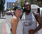 Diana and Kendrick duringArt Fest on Saturday June 30, 2018 in downtown Reno.