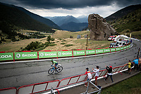Nairo Quintana (COL/Movistar) on his way to a solid 2nd place and the Red Jersey as the new GC overall leader<br /> <br /> Stage 9: Andorra la Vella to Cortals d'Encamp (94km) - ANDORRA<br /> La Vuelta 2019<br /> <br /> ©kramon