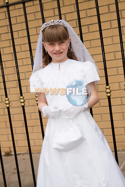 Keisha Crosby at St. John's First Communion in Holy Family Church, Ballsgrove on Sunday.Picture: Newsfile/Mark Carroll
