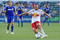 Joel Lindpere...Kansas City were defeated 3-0 by New York Red Bulls at Community America Ballpark, Kansas City, Kansas.