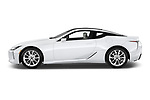 Car driver side profile view of a 2018 Lexus LC 500 4 Door Sedan