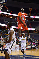 March 11, 2013  (Washington, DC)  David Kadiri #11, of the Coolidge Colts, flies high after defending a shot during the inaugural D.C. State Athletics Championship at the Verizon Center March 11, 2013. Coolidge won 69-47.  (Photo by Don Baxter/Media Images International)