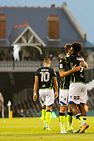 GOAL - Bristol Rovers' Ellis Harrison opens the scoring during the Carabao Cup match between Fulham and Bristol Rovers at Craven Cottage, London, England on 22 August 2017. Photo by Carlton Myrie.