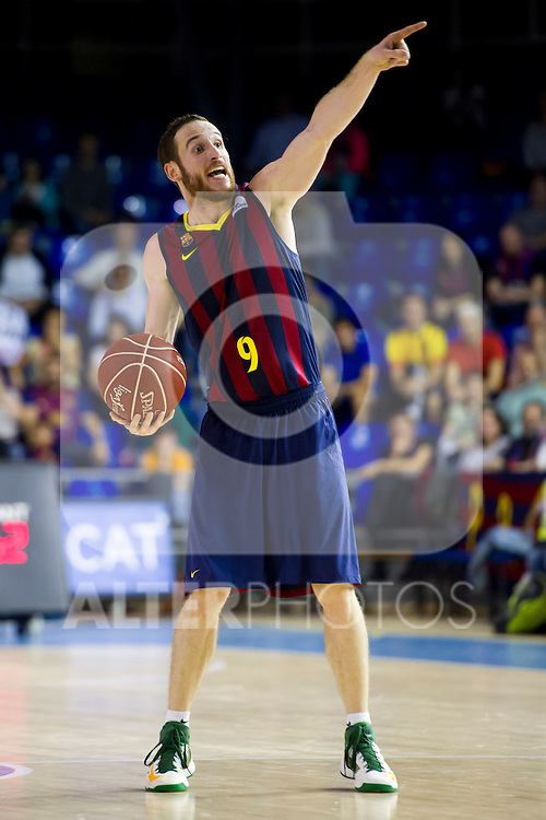 FC Barcelona's Marcelinho Huertas during Liga Endesa ACB 2013-2014 match against Gipuzkoa Basket Club. November 3, 2013. (ALTERPHOTOS/Alex Caparros)