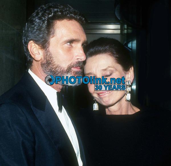 Audrey Hepburn and Robert Wolders 1990<br /> Photo By John Barrett/PHOTOlink