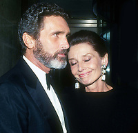 Audrey Hepburn and Robert Wolders 1990<br /> Photo By John Barrett/PHOTOlink