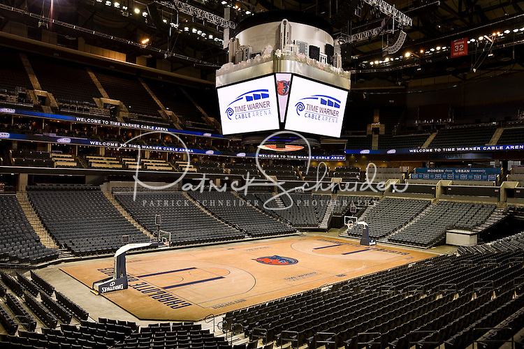 Interior view of Time Warner Cable Arena in Charlotte, NC.