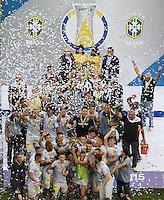 BRASÍLIA, DF, 20.11.2015 - ABC-BOTAFOGO - Jogadores do Botafogo comemoram final da partida contra o ABC, valido pela 37ª rodada do Campeonato Brasileiro série B no estádio Mané Garrincha em Brasília nesta sexta-feira, 20. (Foto: Ed Ferreira/Brazil Photo Press)