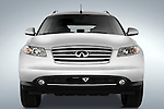 Straight front view of a 2008 Infiniti FX35 SUV