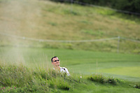 Ondrej Lieser (CZE) in a bunker on the 5th fairway during Round 1 of the D+D Real Czech Masters at the Albatross Golf Resort, Prague, Czech Rep. 31/08/2017<br /> Picture: Golffile | Thos Caffrey<br /> <br /> <br /> All photo usage must carry mandatory copyright credit     (&copy; Golffile | Thos Caffrey)