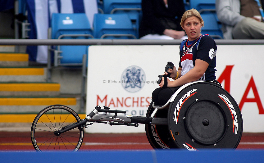 Photo: Paul Thomas..VISA Paralympic World Cup 2007. Athletics. 13/05/2007...Shelley Woods of Great Britain.