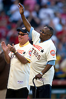 Former Houston Astros star Jimmy Wynn on Turn Back the Clock Nite. Game played on Saturday April 10th, 2010 at Minute Maid Park in Houston, Texas.  (Photo by Andrew Woolley / Four Seam Images)