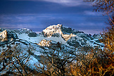 USA, Nevada, an early morning view of the Ruby Mountains in the Great Basin, Elko County, Lamoille Canyon