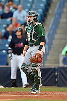 Daytona Tortugas catcher Chad Wallach (15) during a game against the Tampa Yankees on April 24, 2015 at George M. Steinbrenner Field in Tampa, Florida.  Tampa defeated Daytona 12-7.  (Mike Janes/Four Seam Images)