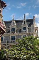 Europe, France,Aquitaine, 64, Pyrénées-Atlantiques, Pays-Basque, Biarritz: Villa  Cyrano - Nommée initialement  villa Labat elle devint Cyrano en l'honneur d'Edmond Rostand - Avenue de l'Impératrice  //  France, Pyrenees Atlantiques, Basque Country, Biarritz : Villa  Cyrano