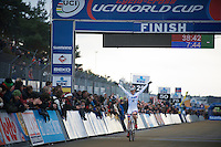 race winner: Katie Compton (USA)<br /> <br /> UCI Worldcup Heusden-Zolder Limburg 2013