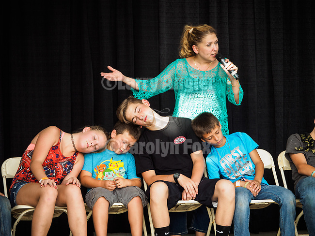 Kellie Karl, Hypnotist, at the 79th Amador County Fair, Plymouth, Calif.<br /> <br /> <br /> #AmadorCountyFair, #PlymouthCalifornia,<br /> #TourAmador, #VisitAmador,