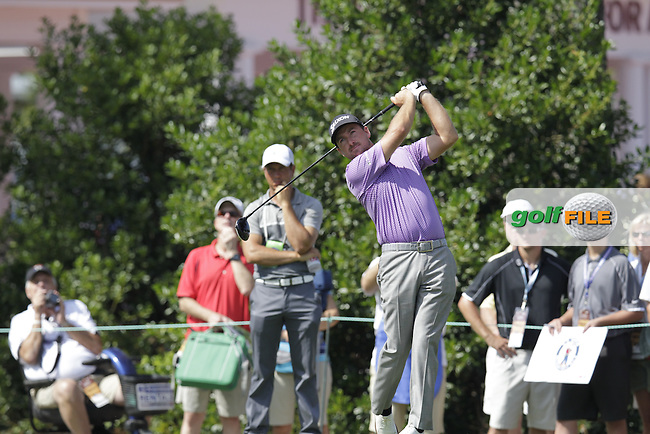 Graeme McDowell (NIR) tees off during Tuesday's Practice Day of the 2014 US Open Championship held at Pinehurst No.2 Course, Pinehurst, North Carolina, USA. 10th June 2014.<br /> Picture: Eoin Clarke www.golffile.ie