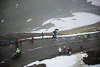 2013 Giro d'Italia.stage 15: Cesana Torinese - Col du Galibier (Valloire)..pink jersey Vincenzo Nibali (ITA) coming up