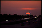 4-21-01.The sunsets over Alligator Alley  in Florida.