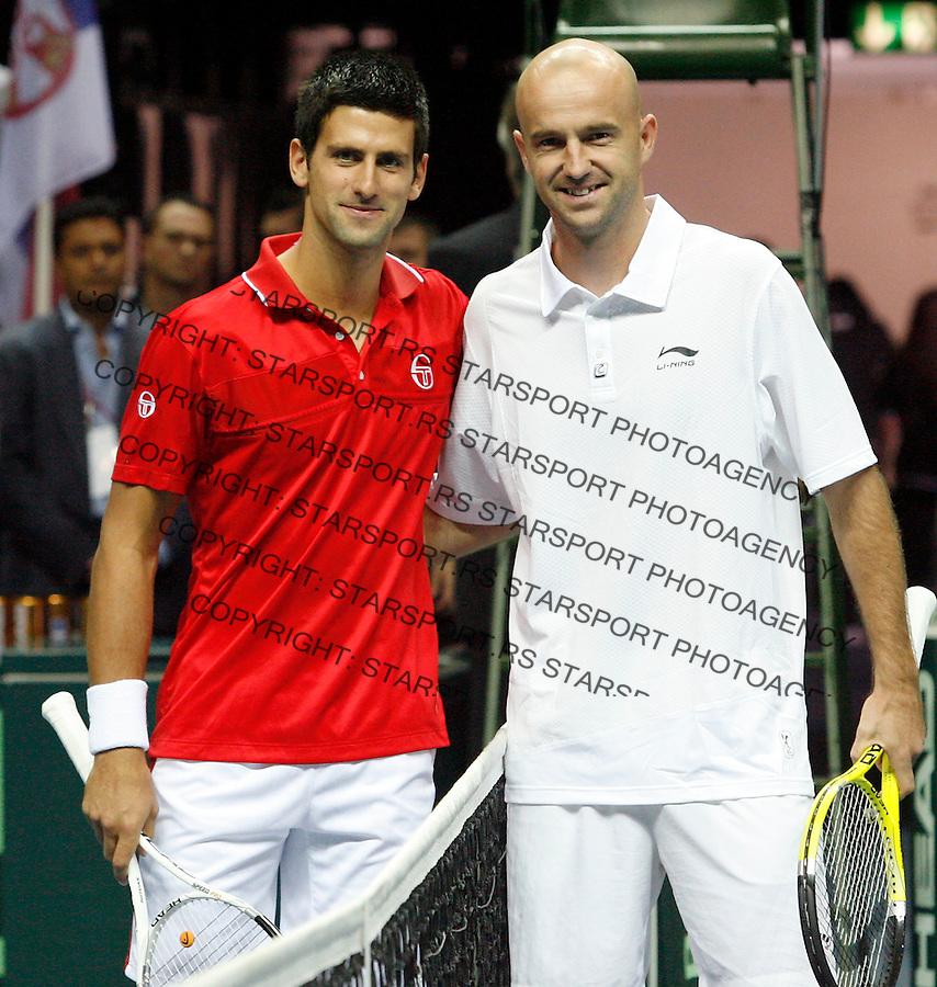 Tenis, Davis Cup 2010.Croatia Vs. Serbia, quaterfinals.Novak Djokovic Vs. Ivan Ljubicic.Split, 09.07.2010..foto: Srdjan Stevanovic/Starsportphoto ©