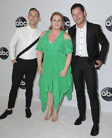 07 August 2018 - Beverly Hills, California - Mandy Moore, Adam Rippon, Valentin Chmerkovskiy. ABC TCA Summer Press Tour 2018 held at The Beverly Hilton Hotel. <br /> CAP/ADM/PMA<br /> &copy;PMA/ADM/Capital Pictures