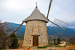 Windmill in at the bakery of Roland Feuillas, Cucugnan, Aude, France
