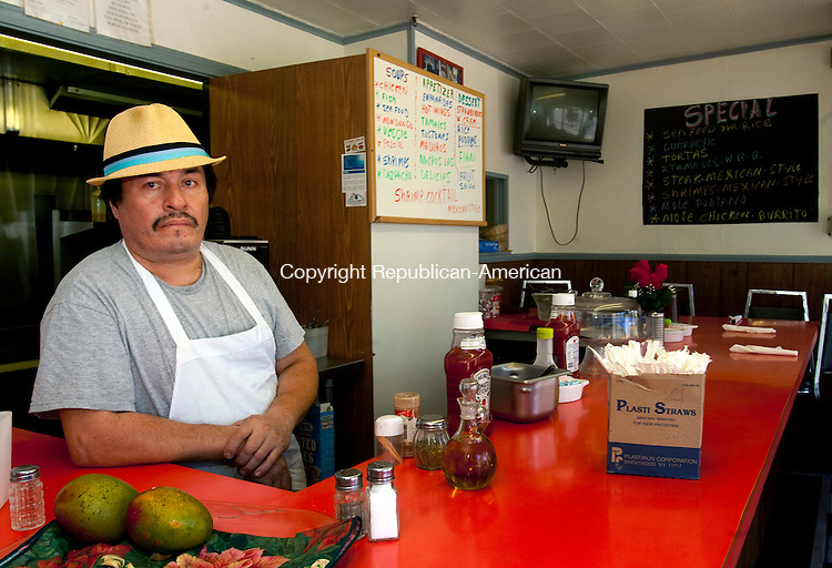 TORRINGTON, CT 15  JULY, 2010-07150JS05-Simon Gonzalez is the owner of Las Delicias Latina Restaurant located at 433 Main Street in Torrington. <br /> Jim Shannon Republican-American