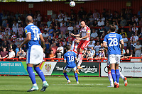 Scott Cuthbert of Stevenage and Jonny Smith of Tranmere Rovers during Stevenage vs Tranmere Rovers, Sky Bet EFL League 2 Football at the Lamex Stadium on 4th August 2018