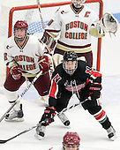 The Boston College Eagles defeated the Northeastern University Huskies 3-1 to win the 2011 Hockey East championship on Sunday, March 6, 2011, at Walter Brown Arena in Boston, Massachusetts.