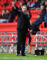 Doncaster Rovers manager Darren Ferguson shouts instructions to his team from the dug-out<br /> <br /> Photographer Chris Vaughan/CameraSport<br /> <br /> The EFL Sky Bet League Two - Doncaster Rovers v Blackpool - Keepmoat Stadium - Doncaster<br /> <br /> World Copyright &copy; 2017 CameraSport. All rights reserved. 43 Linden Ave. Countesthorpe. Leicester. England. LE8 5PG - Tel: +44 (0) 116 277 4147 - admin@camerasport.com - www.camerasport.com