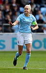 Steph Houghton of Manchester City during the Women's Champions League, Semi Final 1st leg match at the Academy Stadium, Manchester. Picture date 22nd April 2018. Picture credit should read: Simon Bellis/Sportimage