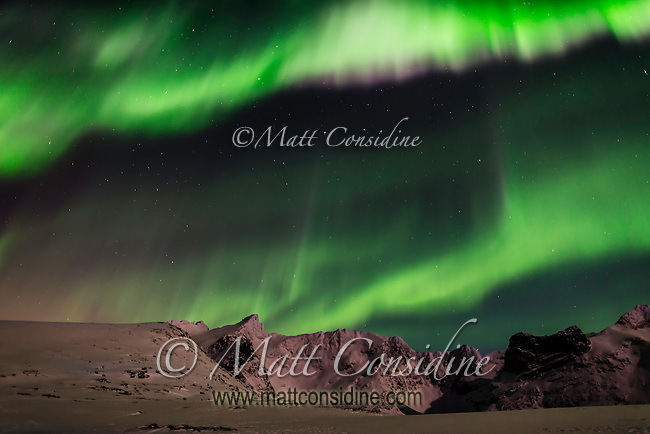The northern lights come and go quite quickly. This is a particularly impressive multicolored show. (Photo by Travel Photographer Matt Considine)