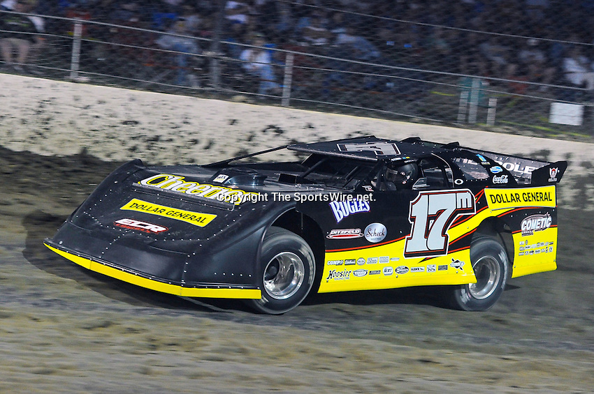 Sep 10, 2010; 8:20:13 PM; Rossburg, OH., USA; The 40th annual running of the World 100 Dirt Late Models racing for the Globe trophy at the Eldora Speedway.  Mandatory Credit: (thesportswire.net)
