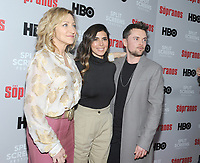 NEW YORK, NEW YORK - JANUARY 09: Edie Falco, Jamie-Lynn Sigler and Robert Iler  attends the 'The Sopranos' 20th Anniversary Panel Discussion at SVA Theater on January 09, 2019 in New York City. Credit: John Palmer/MediaPunch