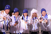 OLYMPICS: SOCHI: Medal Plaza, 20-02-2014, Ladies' 5000m, ©photo Martin de Jong