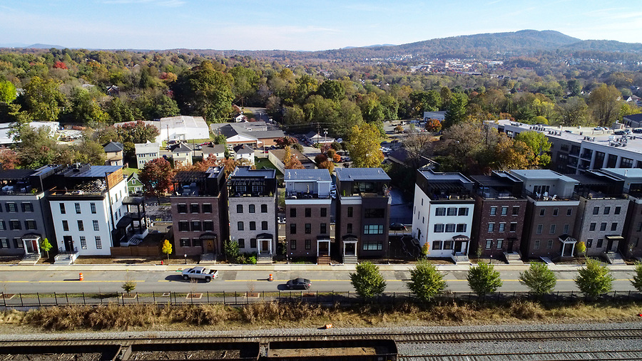 A new development near the Downtown Mall. Photo/Andrew Shurtleff Photography, LLC