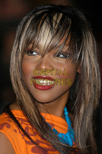 EBONY THOMAS .arrives at Albert Hall for the National Television Awards 2002.Ref: PL.www.capitalpictures.com.sales@capitalpictures.com.©Capital Pictures