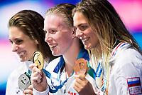 KING Lilly USA gold medal,  MEILI Katie USA silver medal,  EFIMOVA Yuliya RUS bronze medal<br /> swimming<br /> Women's 100m breaststroke final<br /> day 12 25/07/2017 <br /> XVII FINA World Championships Aquatics<br /> Photo © Giorgio Perottino/Deepbluemedia/Insidefoto