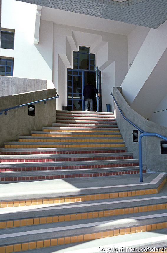 Charles Moore: Entrance to City Council Chambers, Oceanside. (Photo '91)