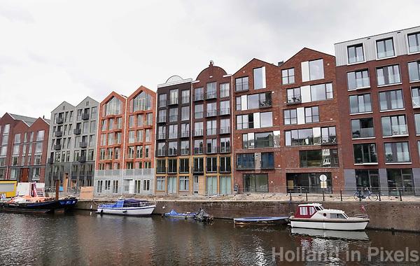 Nederland -  Amsterdam -  2018. Nieuwbouw Kwintijn aan de Bilderdijkkade in Amsterdam West.     Foto Berlinda van Dam / Hollandse Hoogte