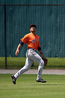 Houston Astros Jason Martin (43) during a minor league Spring Training game against the Detroit Tigers on March 30, 2016 at Tigertown in Lakeland, Florida.  (Mike Janes/Four Seam Images)