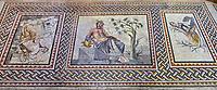 Roman mosaics - The Euphrates ( River Gods). Euphrates Villa, Ancient Zeugama, 2nd - 3rd century AD . Zeugma Mosaic Museum, Gaziantep, Turkey.