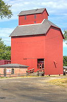 The historic J.H. Hawes Greain Elevator in the Route 66 town of  Atlanta Illinois was built in 1904 and operated untill 1976, and has now been restored and is a museum.