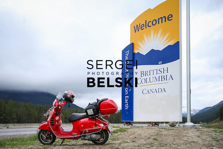 My Vespa Adventures Canadian West Day 1. Photo Credit: Sergei Belski