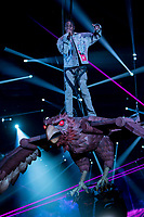 Travis Scott performs during the show of the 2017 MTV Europe Music Awards, EMAs, at SSE Arena, Wembley, in London, Great Britain, on 12 November 2017. Photo: Hubert Boesl <br />