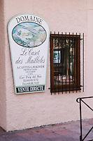 Wine shop, Domaine Le Casot des Mailloles. Banyuls sur Mer, Roussillon, France